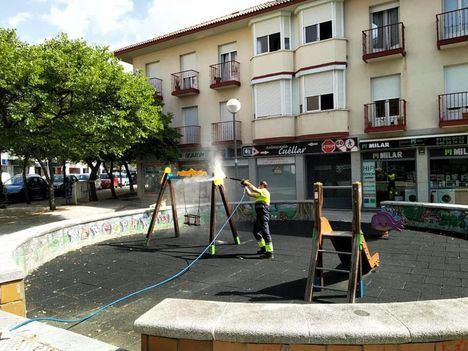 Tras su limpieza y desinfección, El Escorial reabre los parques infantiles