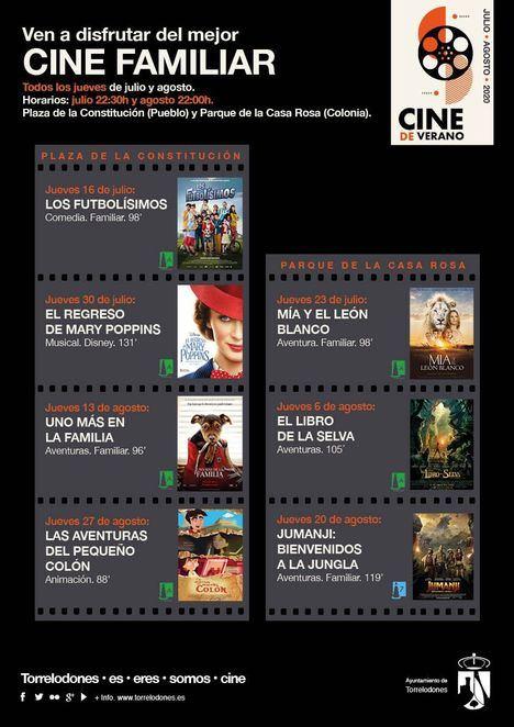 Desde el 16 de julio, Cine de Verano en Torrelodones