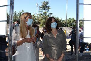 Arrancan las obras del Pabellón Quique Blas, en Collado Villalba, con la visita de Isabel Díaz Ayuso