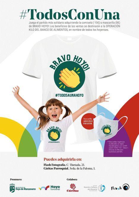 'Bravo Hoyo!': Camisetas y mascarillas a beneficio de Cáritas Parroquial