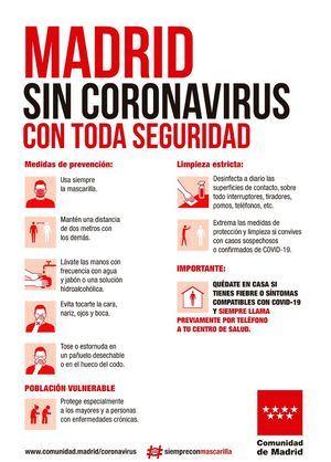 La Comunidad de Madrid notifica un nuevo brote de coronavirus con cinco casos