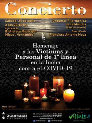 Collado Villalba homenajea a las víctimas y profesionales del COVID-19