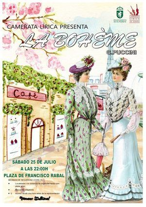 La Plaza de Francisco Rabal, en Alpedrete, acoge una representación de 'La Bohème'