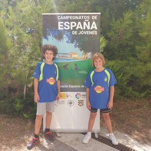 Dos jugadores del Club Ajedrez 64 Villalba-Miscasa, en el Campeonato de España sub12