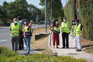El director general de Carreteras visita Guadarrama para conocer sus necesidades de seguridad