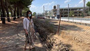 Renovación del vallado del Monte del Pilar junto a las vías del tren en Majadahonda