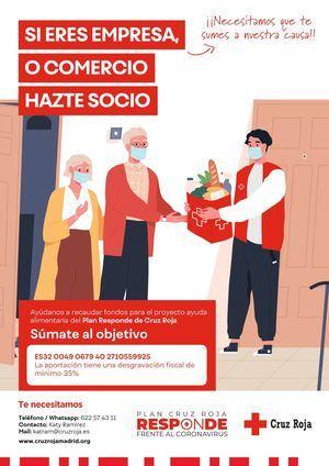 Cruz Roja Collado Villalba pide ayuda para seguir paliando las consecuencias del COVID-19