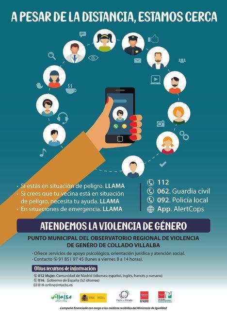 Collado Villalba lanza una campaña destinada a víctimas de violencia de género