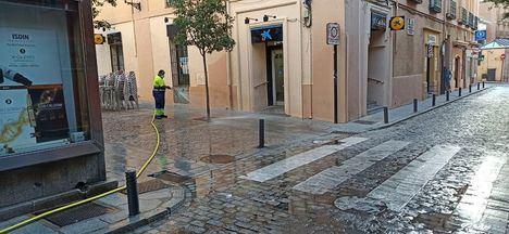 San Lorenzo de El Escorial intensifica los trabajos de desinfección de calles