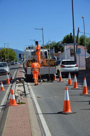 La Comunidad realiza obras de mejora en la travesía de la M-614 en Guadarrama