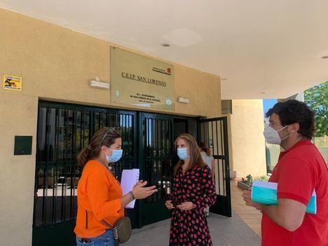 Los centros escolares de San Lorenzo se adaptan para garantizar una vuelta al cole segura