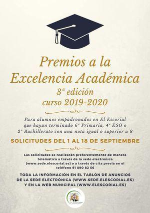 El Escorial convoca su tercera edición de los premios de excelencia académica