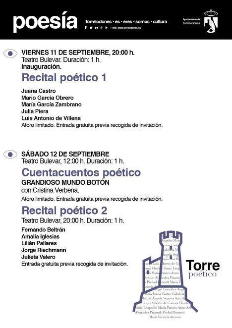 Torrepoético 2020 lleva la poesía al Bulevar de Torrelodones los días 11 y 12 de septiembre