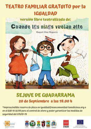 La Maliciosa presenta 'Cuando las niñas vuelan alto' en el SEJUVE de Guadarrama