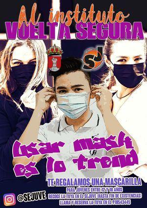 El SEJUVE de Guadarrama regala mascarillas a los jóvenes del Instituto