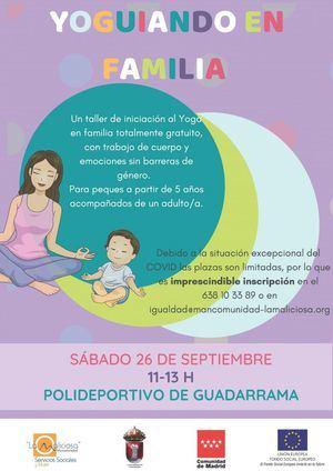 La Mancomunidad La Maliciosa ofrece en Guadarrama una actividad de Yoga en familia