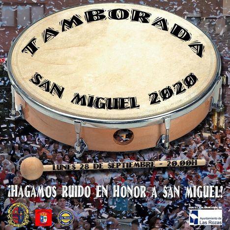 Gran tamborada de las peñas y vecinos de Las Rozas para celebrar San Miguel
