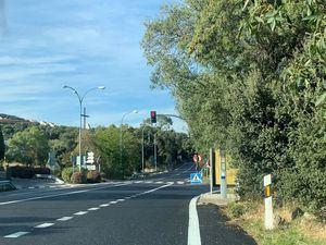 La M-600 estrena un nuevo asfaltado en el acceso a San Lorenzo de El Escorial