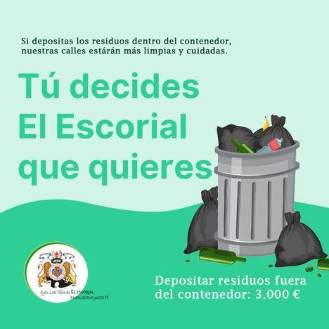 El Escorial lanza una campaña de concienciación para mantener sus calles limpias