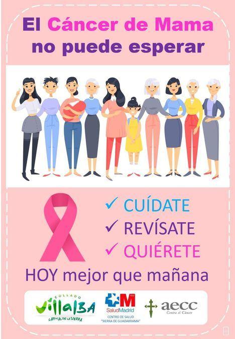 Collado Villalba lanza una nueva campaña municipal contra el cáncer de mama