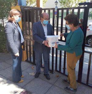 El Escorial reparte de 4.000 mascarillas a los centros escolares de la localidad