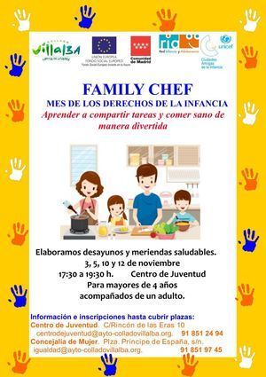 'Family Chef': Collado Villalba enseña de forma divertida a compartir tareas y comer sano