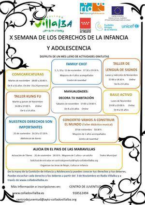 Collado Villalba dedica el mes de noviembre a celebrar los Derechos de la Infancia