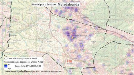 La Comunidad de Madrid confina otra zona básica de salud en Majadahonda, la de Valle de la Oliva
