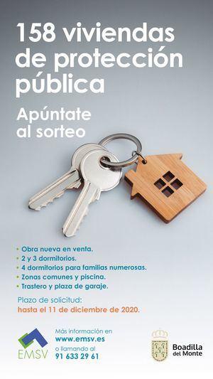 Boadilla abre el plazo de solicitud de 158 viviendas de protección pública en régimen de venta