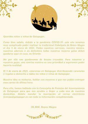 Los Reyes Magos se quedan sin Cabalgata en Galapagar pero harán visitas a domicilio