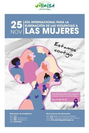 Collado Villalba conmemora el Día Internacional de la Eliminación de la Violencia contra las Mujeres