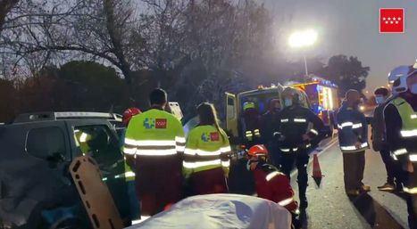 Cuatro heridos en un nuevo accidente en la M-600 a la altura de El Escorial
