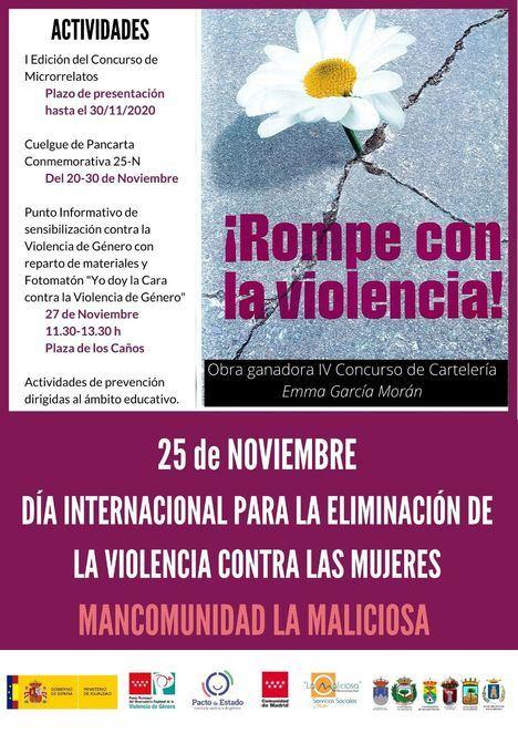 Guadarrama acogerá la lectura de un manifiesto por el Día para la Eliminación de la Violencia contra la Mujer