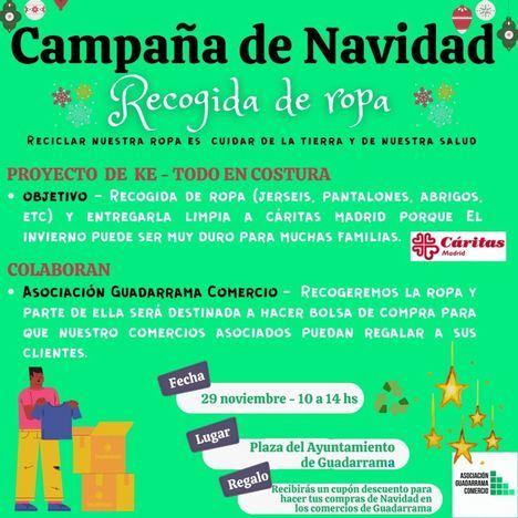 Guadarrama Comercio premia la entrega solidaria de ropa con descuentos en 40 establecimientos