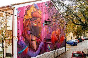 La Casa de Juventud de San Lorenzo de El Escorial estrena el mural 'Hestia'