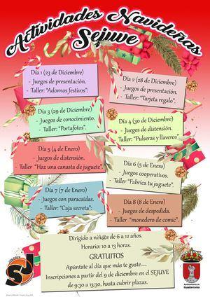 El Servicio de Juventud de Guadarrama programa actividades de Navidad para los más pequeños