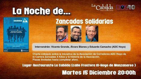 Una charla-coloquio presentará la nueva edición de Zancadas Solidarias en Hoyo de Manzanares