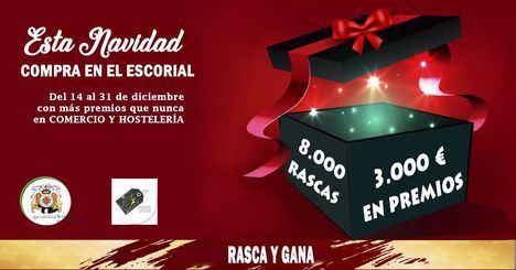 El comercio de El Escorial reparte desde este lunes 3.000 euros en premios