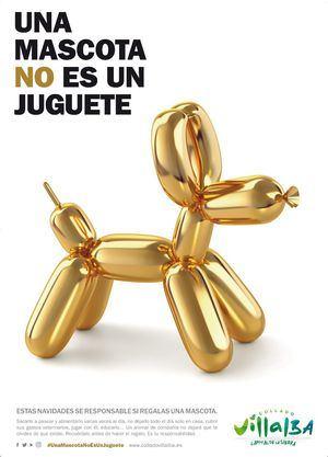 Collado Villalba recuerda, ante la llegada de la Navidad, que 'Una mascota no es un juguete'