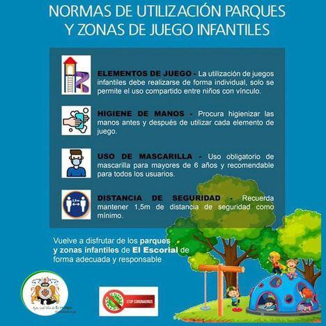 El Escorial reabre sus parques infantiles para favorecer el ocio al aire libre esta Navidad
