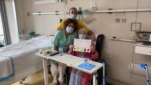 Felicitaciones navideñas de escolares de Cercedilla para los pacientes del Hospital La Fuenfría