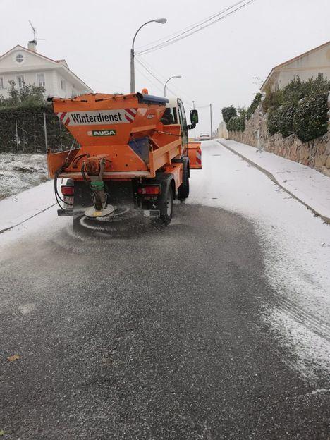 Collado Villalba activa el Plan de Inclemencias Invernales ante la llegada de la nieve