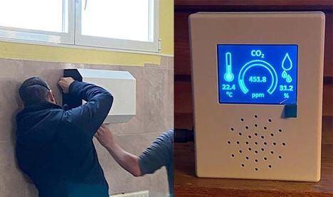 Alpedrete adquiere medidores de CO2 y filtros purificadores para los centros educativos