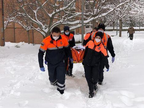 El Escorial agradece públicamente su labor a los voluntarios de Protección Civil durante la borrasca Filomena
