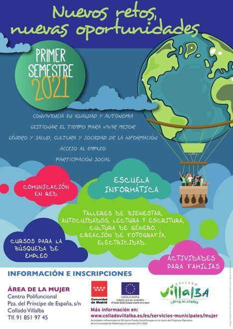El área de Mujer de Collado Villalba apuesta por el empleo, la salud, la autonomía y el desarrollo personal