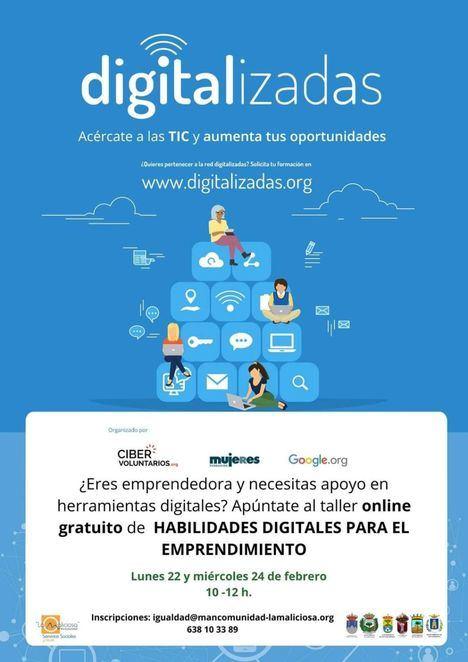 La Mancomunidad La Maliciosa ofrece talleres de habilidades digitales para el emprendimiento y el empleo de mujeres