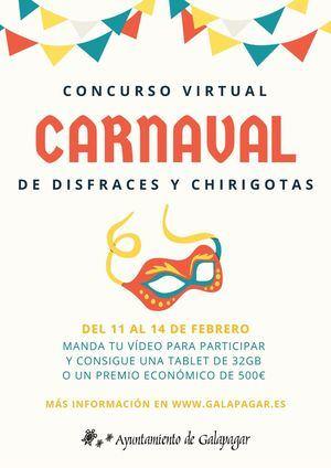 Galapagar convoca un concurso virtual de disfraces y chirigotas por Carnaval