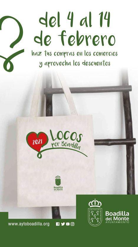 Arranca la campaña 'Locos por Boadilla' para fomentar el comercio local en San Valentín