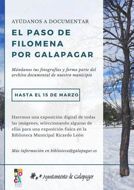 La Biblioteca Ricardo León de Galapagar invita a los vecinos a participar en una exposición sobre el paso de Filomena
