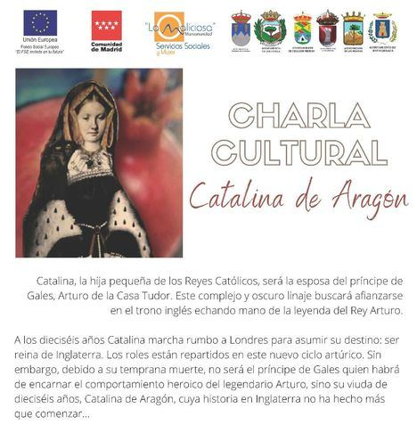 La figura de Catalina de Aragón, protagonista de una charla de la Mancomunidad La Maliciosa con motivo del 8 de marzo